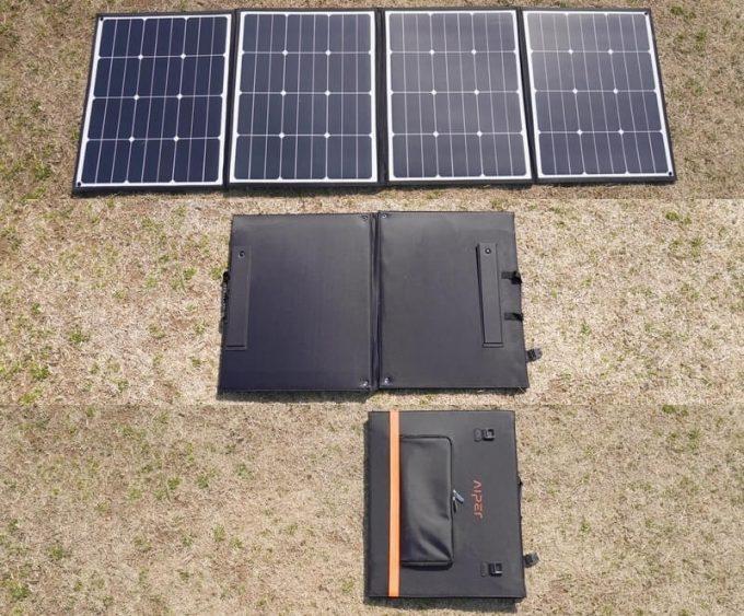 アイパー(Aiper)ソーラーパネル160W SP160の折りたたみ方法