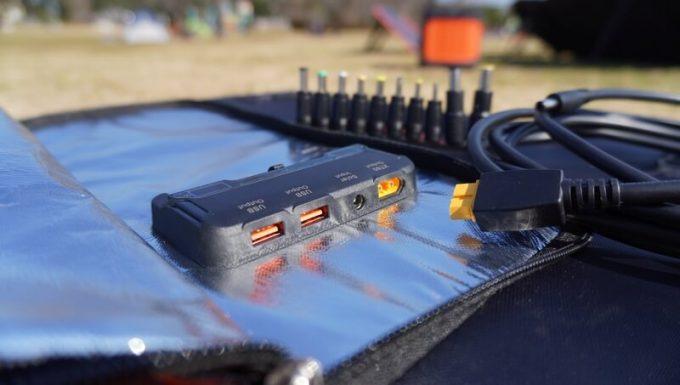 アイパー(Aiper)ソーラーパネル160W SP160の入出力端子
