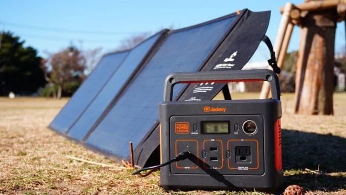 BigBlueの120Wソーラーパネル(B442)でJackery400を充電