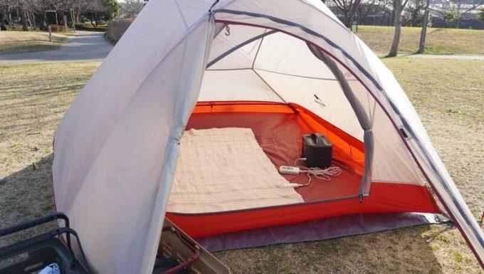 イデアル PhewMan Smartをテントで使う