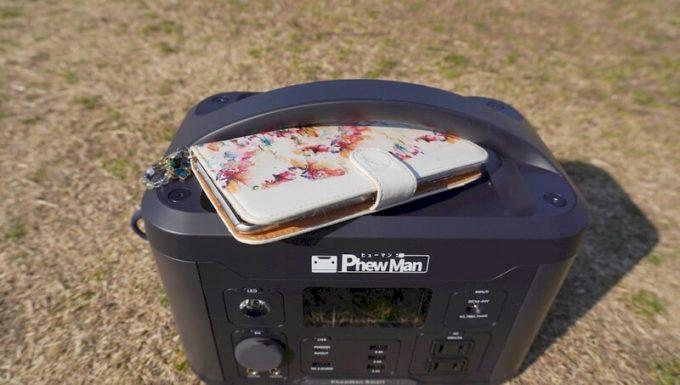 イデアル PhewMan Smartのワイヤレス充電 手帳型スマホケースは入らない