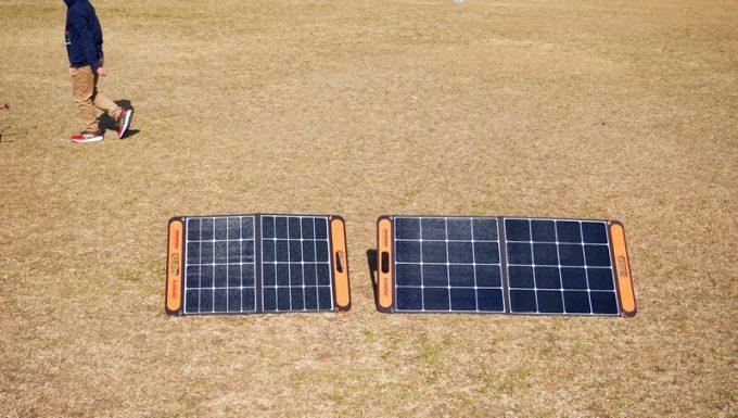 SolarSaga 60 ProとSolaSaga 100の展開サイズ比較