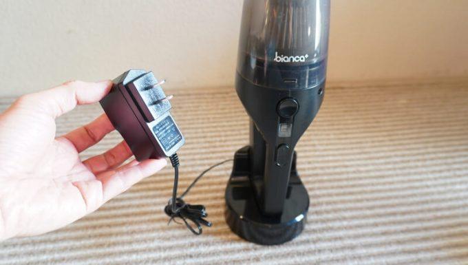 ビアンカプラス(bianca)のハンディクリーナーの充電アダプター