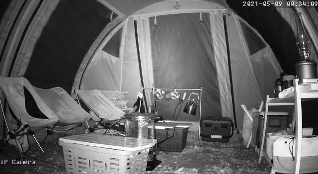 GENBOLT監視カメラ GB102Hの動体検知 テント影1