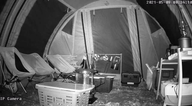 GENBOLT監視カメラ GB102Hの動体検知 テント影2