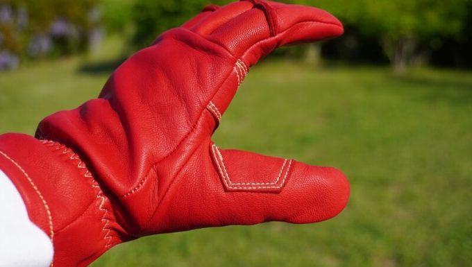 アウトドア手袋 Elmer Joy 革が二重 横