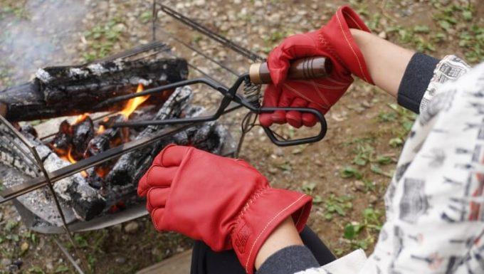 アウトドア手袋 Elmer Joy 焚き火で使う