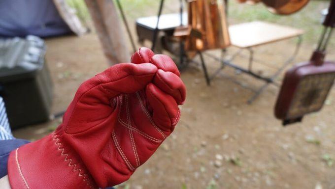 アウトドア手袋 Elmer Joy サイズ感 握る