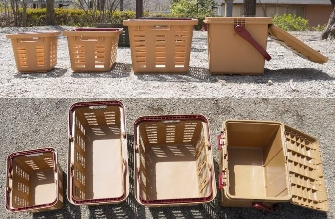 リングスター スタークアール バスケットとボックス 全種のサイズ比較