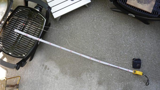 Weber Connect スマートグリルハブの温度計の長さ