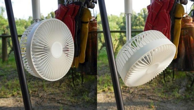 リスカイ扇風機を吊るして角度調整