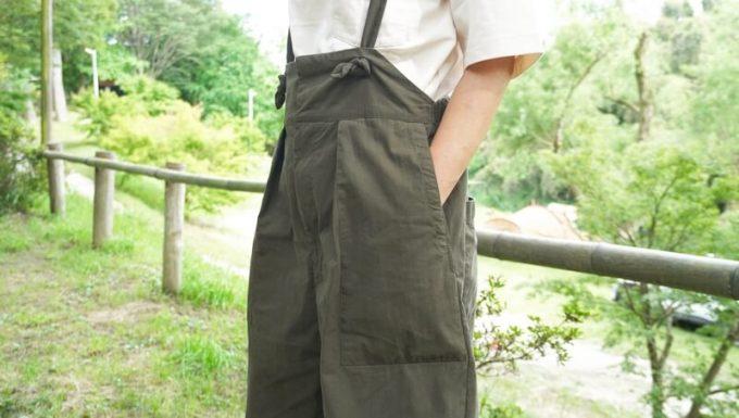 サニークラウズのウェーダーパンツの前ポケット