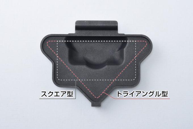 ホットサンドメーカーPOLYGONはパンを三角と四角に折れる