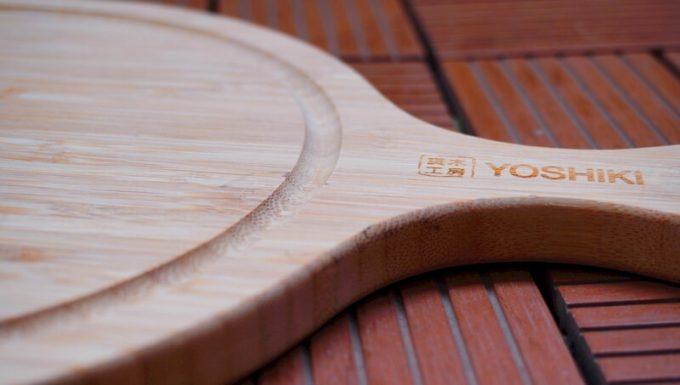 YOSHIKI 良木工房 竹製 ピザボードの溝