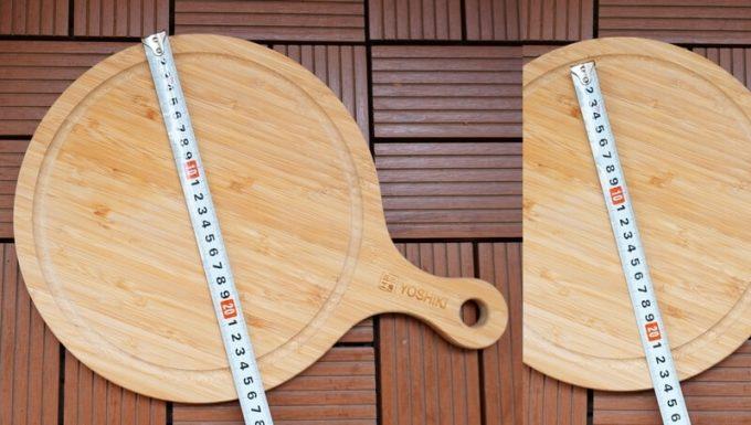 YOSHIKI 良木工房 竹製 ピザボードのサイズ
