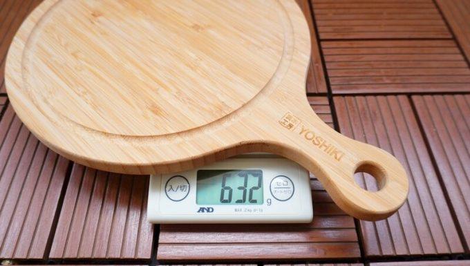 YOSHIKI 良木工房 竹製 ピザボードの重量
