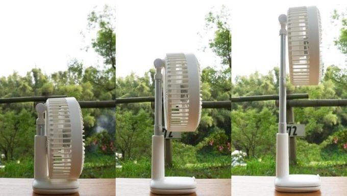 リスカイ扇風機の首の長さ調整