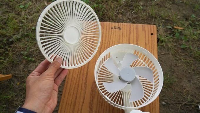 リスカイ扇風機のガードは取り外し可能