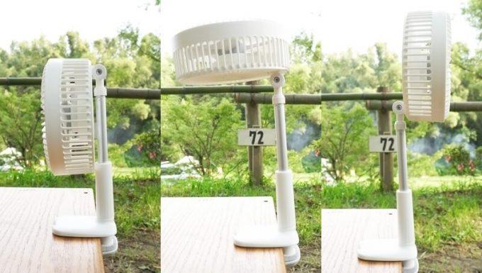 リスカイ扇風機の首の角度調整