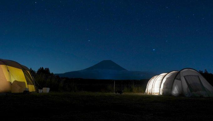 LuminarAIで写真加工する前 ふもとっぱら星