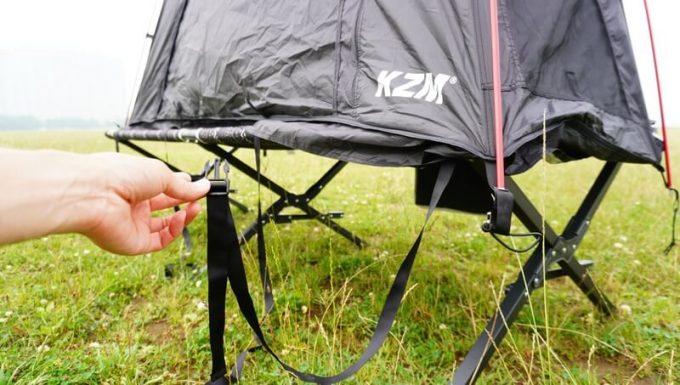 KAZUMI ブラックコットテントの固定ベルト