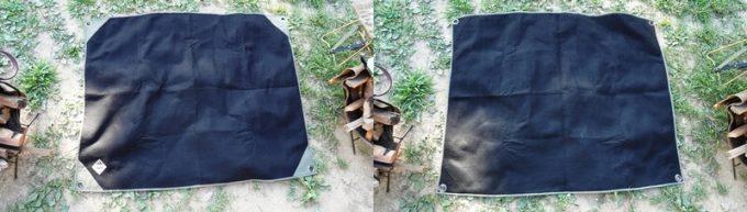 焚き火シート MATERIUM SHEETの裏表