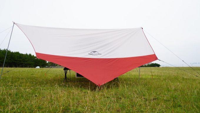 KAZUMI ブラックコットテントとターブ 横
