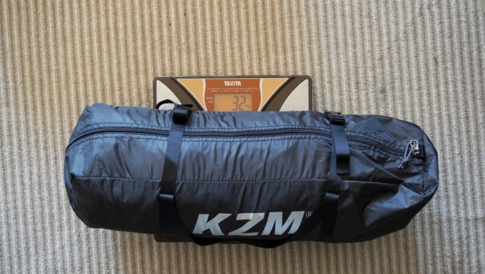 KAZUMI ブラックコットテントの重量