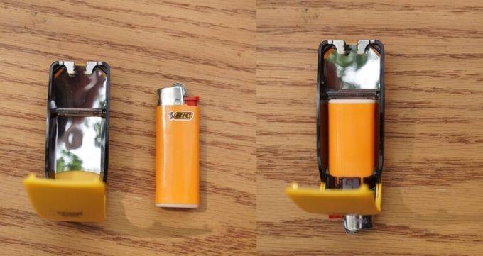 SOLARBROTHERサンケースギアにライター装着