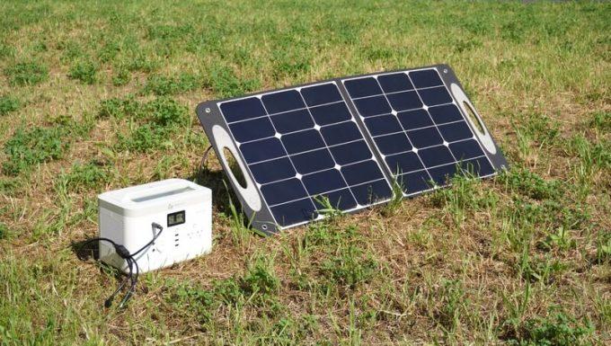 AlphaESSポータブル電源MS500でソーラー充電
