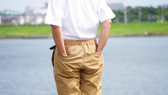ナコタ nakota ライトウエイトパンツ ロクヨンクロスの後ろポケット