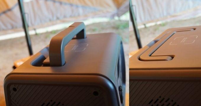 BLUETTIポータブル電源EB70のハンドル
