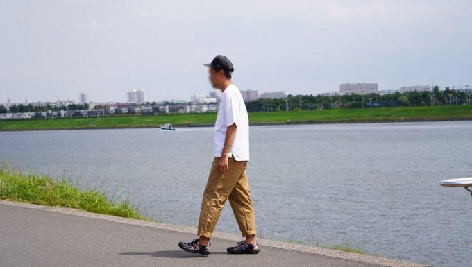 ナコタ nakota ライトウエイトパンツ ロクヨンクロスの裾を折って履く