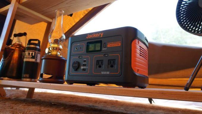 Jackeryポータブル電源708をキャンプのテントで使う