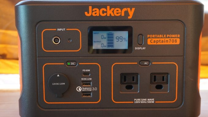 Jackeryポータブル電源708の入出力端子