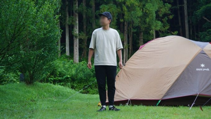 KEEN ニューポートエイチツーサンダル キャンプでコーデ
