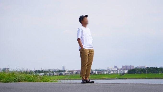 ナコタ nakota ライトウエイトパンツ ロクヨンクロスを履く メンズ