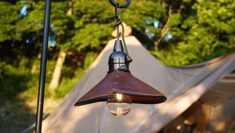 キャンプ用ペンダントライトAfterGlowを外で使う
