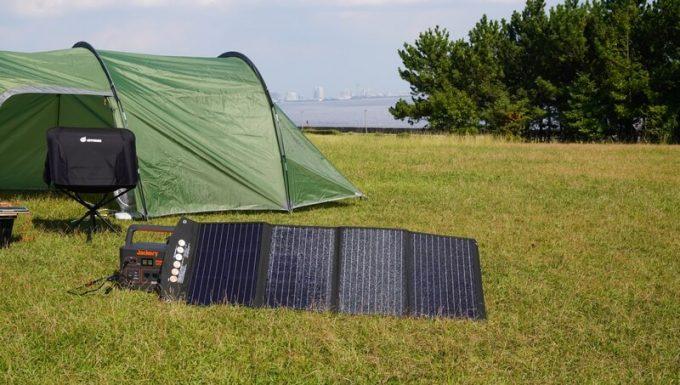 BALDRソーラーパネル120Wをキャンプで使う