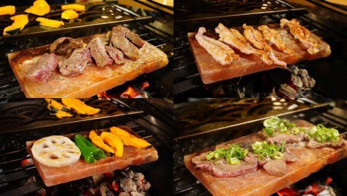梅研本舗 ヒマラヤ岩塩プレートで焼き肉