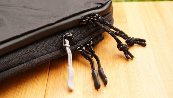 圧縮バッグ PackBagのファスナータブ