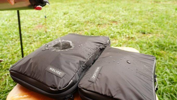 圧縮バッグ PackBagの撥水性