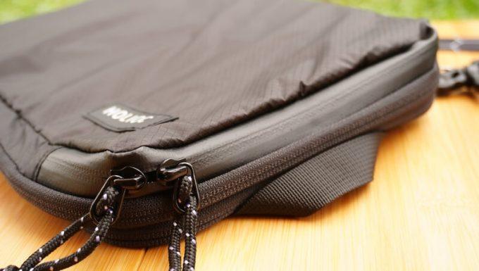 圧縮バッグ PackBagの止水ジッパー