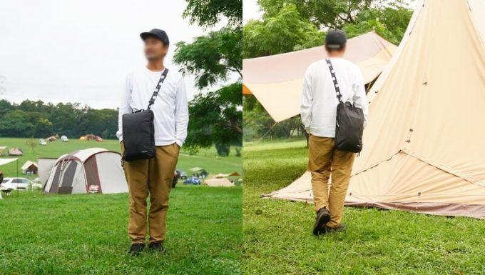 圧縮バッグ PackBag Lサイズをショルダーバックとして使う