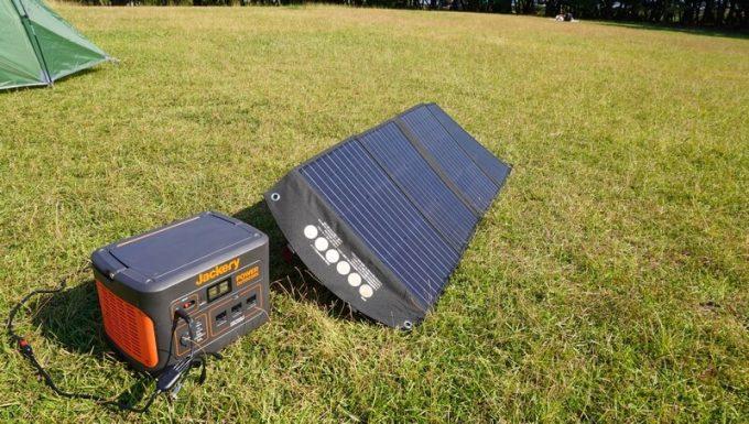 BALDRソーラーパネル120Wで発電 秋晴れ