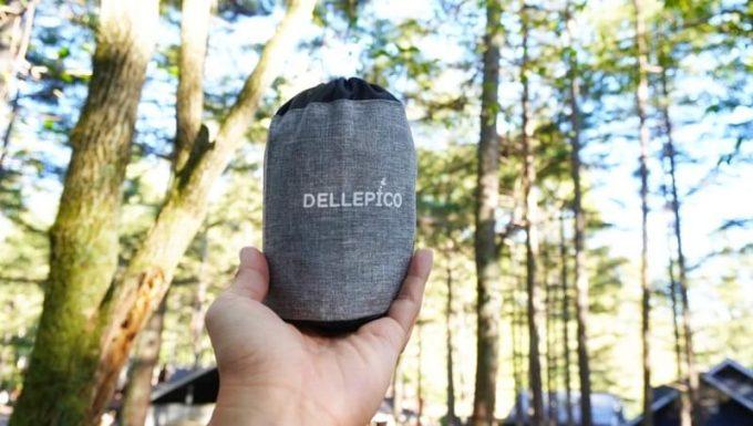 デルピコ(DELLEPICO)キャンプ枕の収納サイズ
