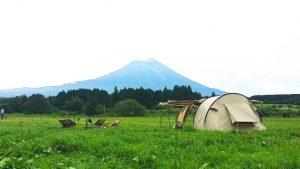 第38営 9月のふもとっぱら ~ 曇時々雨だと富士山のご機嫌は?