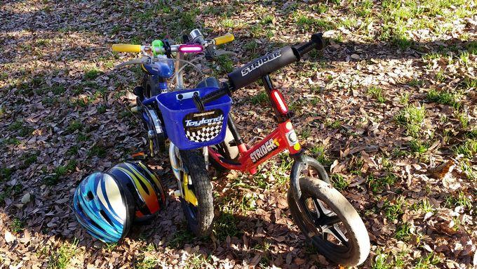 子供用の自転車にTeyimoテールライトを装着
